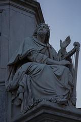 Colonna Dell'Immacolata a Piazza Mignanelli - Rome Immaculate Conception column in Piazza Mignanelli -  RomaColonne de l'Immaculée Conception  sur la Piazza Mignanelli: Re David (Adamo Todini)