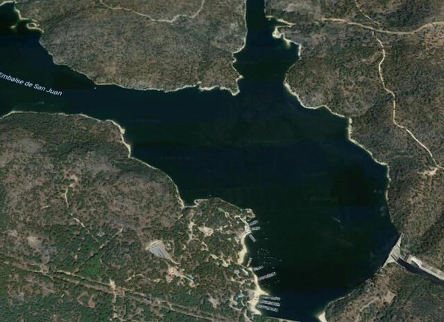 Vista aérea del Pantano de San Juan