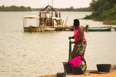 Laundry time - Janjanbureh, Central River Division, Gambia