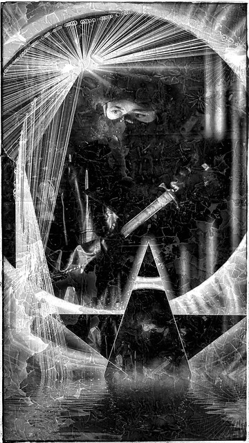 Every second lasts a minute, every minute lasts an hour, I have to kill time before time kills me / Autoportrait by AEON VON ZARK