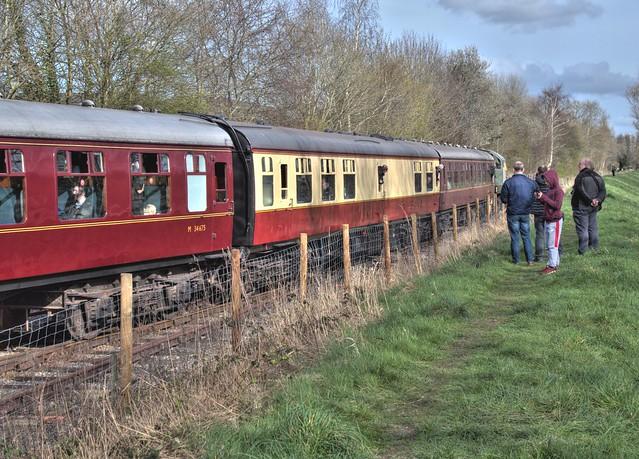 Steam Train ride at Preston Docks