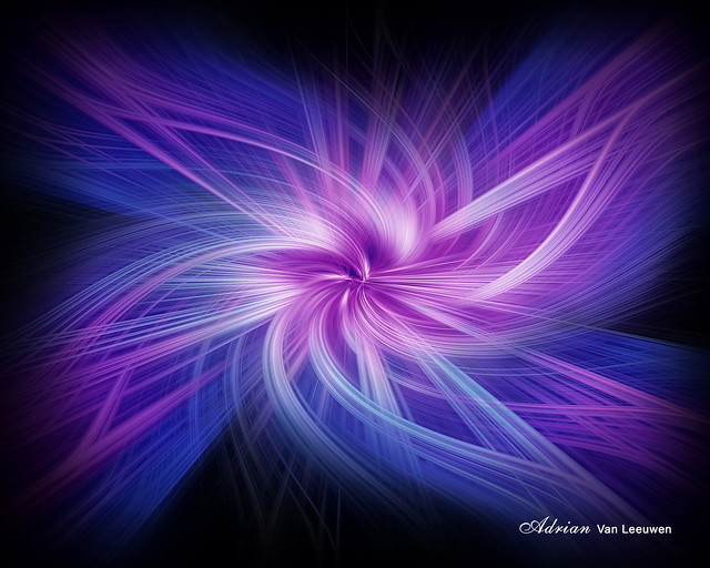 Fractal Fantasy Flower Abstract Art