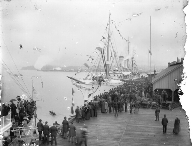 First arrival of S S Empress of India in Vancouver B.C., Canada Apr 28th 1891.