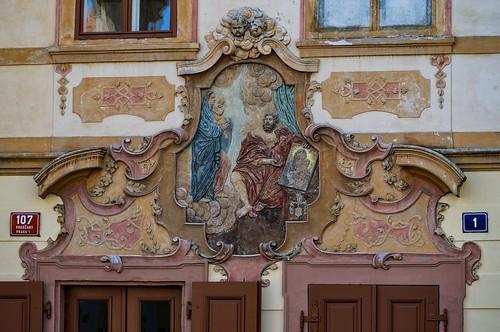 Prague... relief of Saint Lukas