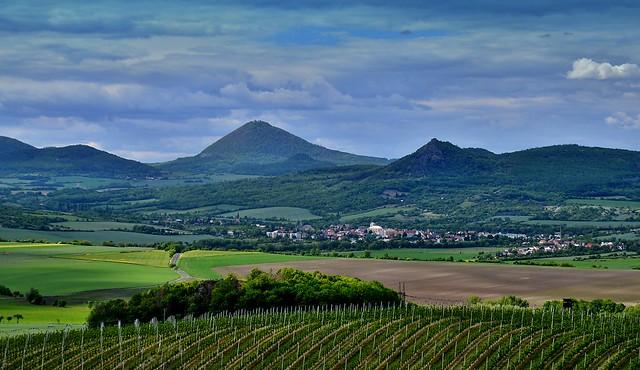 Top of Milešovka Mt. in České středohoří Mts.
