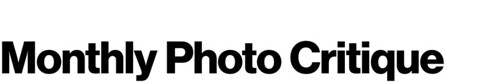 MonthlyPhotoCritique