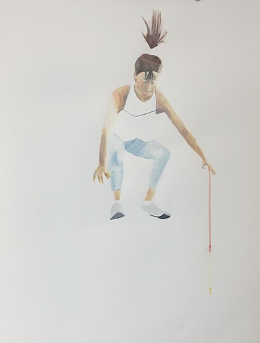 Box jump - 001 | £62 inc p&p UK |2020 | 56x76cm | Watercolour Paper coldpress
