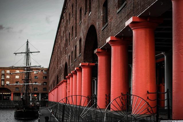 Albert Dock Liverpool at Sunset