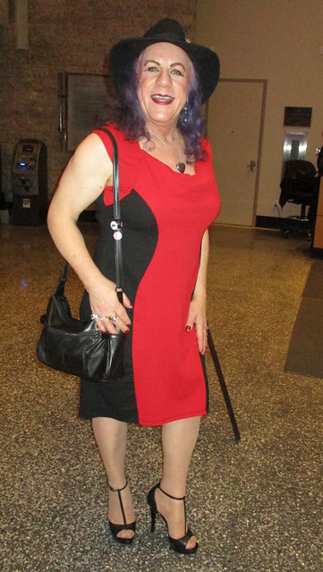 That red&black frock
