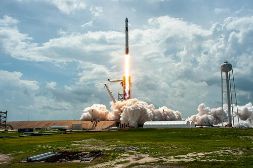 SpaceX launches from the Kennedy Space Center on May 30.