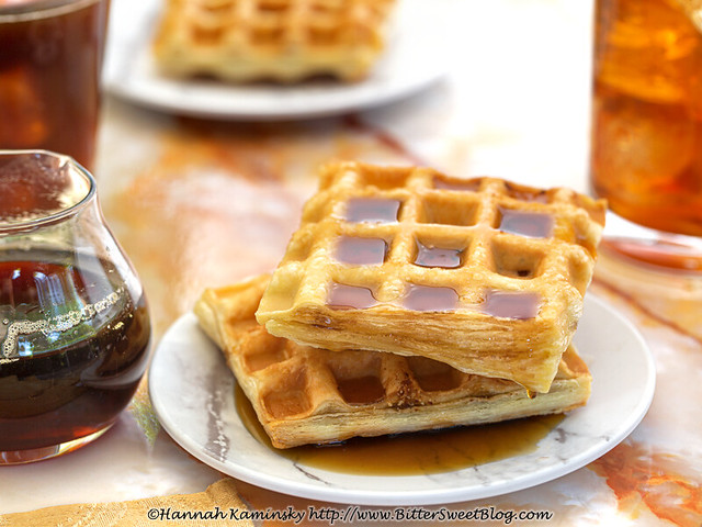 Baklava Waffles with Syrup
