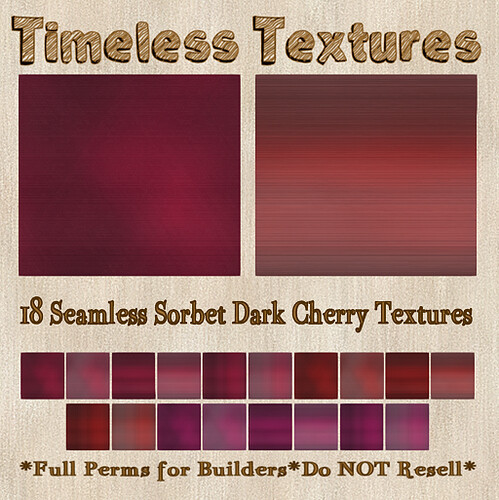 TT 18 Seamless Sorbet Dark Cherry Timeless Textures