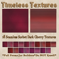 TT 18 Seamless Sorbet Dark Cherry Timeless Textures