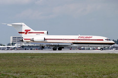 N903TS Trump Shuttle Boeing 727-25 at Miami International Airport on 29 March 1992
