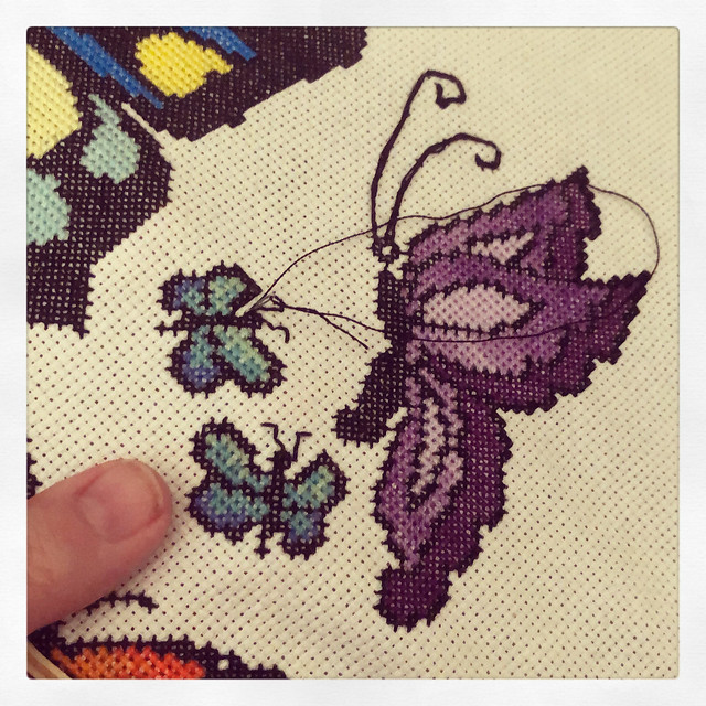 Back to this cross stitch project
