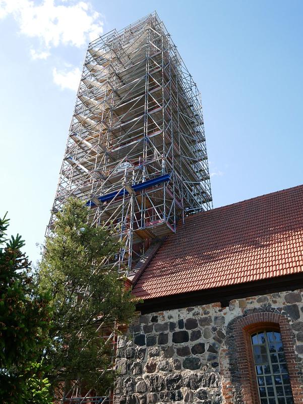 Kirchturm eingerüstet #1
