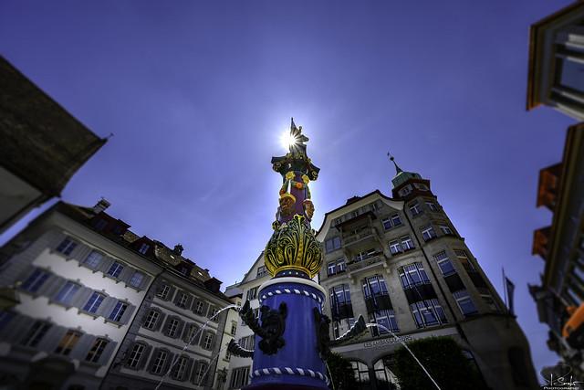 The Fritschi Fountain in Luzern - Switzerland