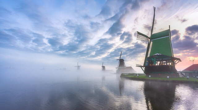 Some fog, Zaanse Schans