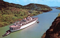 Oriana in the Panama Canal