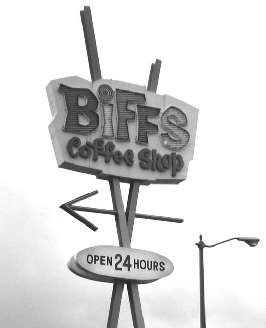 Biff's  arrow sign cropped