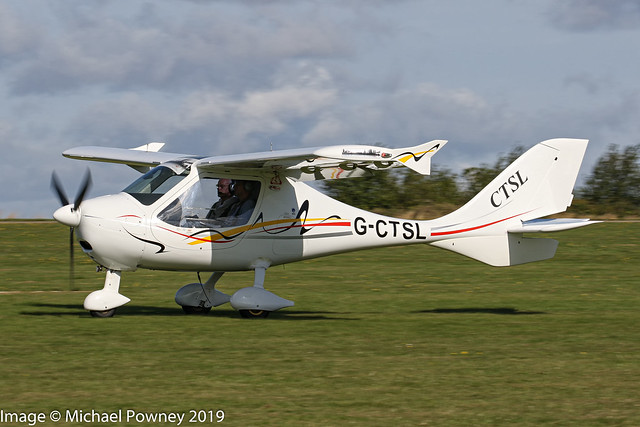 G-CTSL - 2014 build Flight Design CT-Supralight, arriving on Runway 21L at Sywell during the 2019 LAA Rally