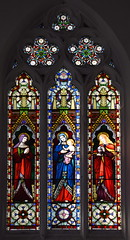 St Anne, Blessed Virgin and Christ child, St Mary Magdalene (O'Connor, 1868)