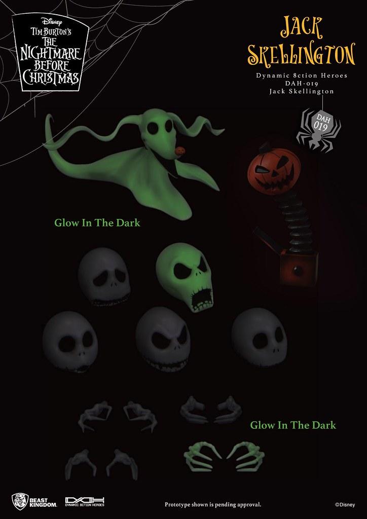 誠意滿滿的六頭雕陣容! 野獸國 D.A.H.系列《聖誕夜驚魂》南瓜王「傑克·史克林頓 (Jack Skellington)」1/9 比例可動人偶