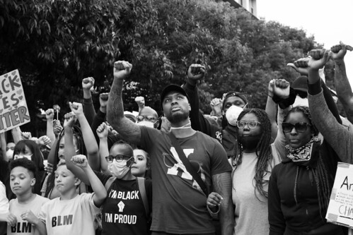 Damian Lillard at the Black Lives Matter march in Portland | by Matthew Almon Roth