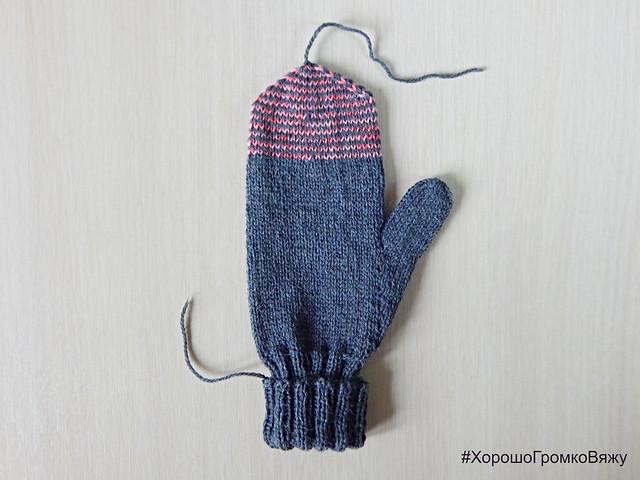 Безотрывный метод вязания варежек спицами | HoroshoGromko.ru