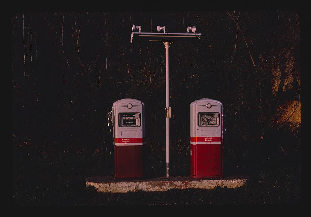 Amoco gas pumps, Lexington, Virginia (LOC)
