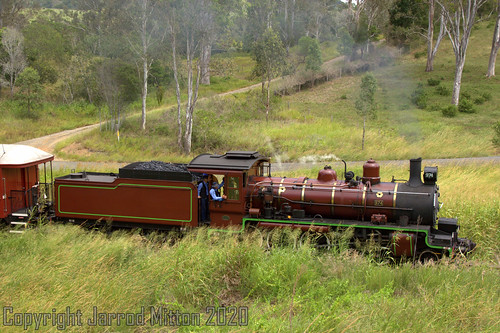 c17 974 steam rail railroad railway train loco locomotive brown bomber qld qr heritage historic mary valley rattler gympie se walkers