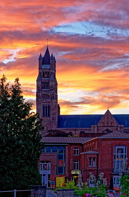 A Bruges Sunset ( Saint  Salvator's Cathedral) Panasonic DC-S1 & Lumix S 24-105mm f4 Zoom (DxO Edited)