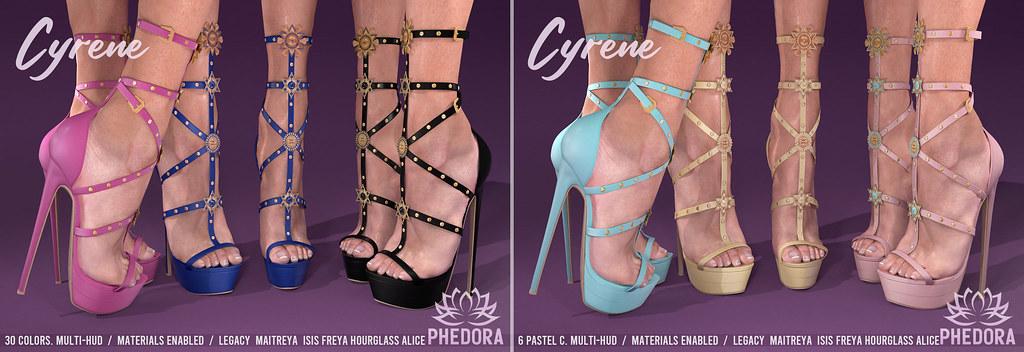 "Phedora. for FaMESHed – ""Cyrene"" Heels ♥"