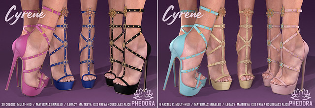 "Phedora. for FaMESHed - ""Cyrene"" Heels ♥"