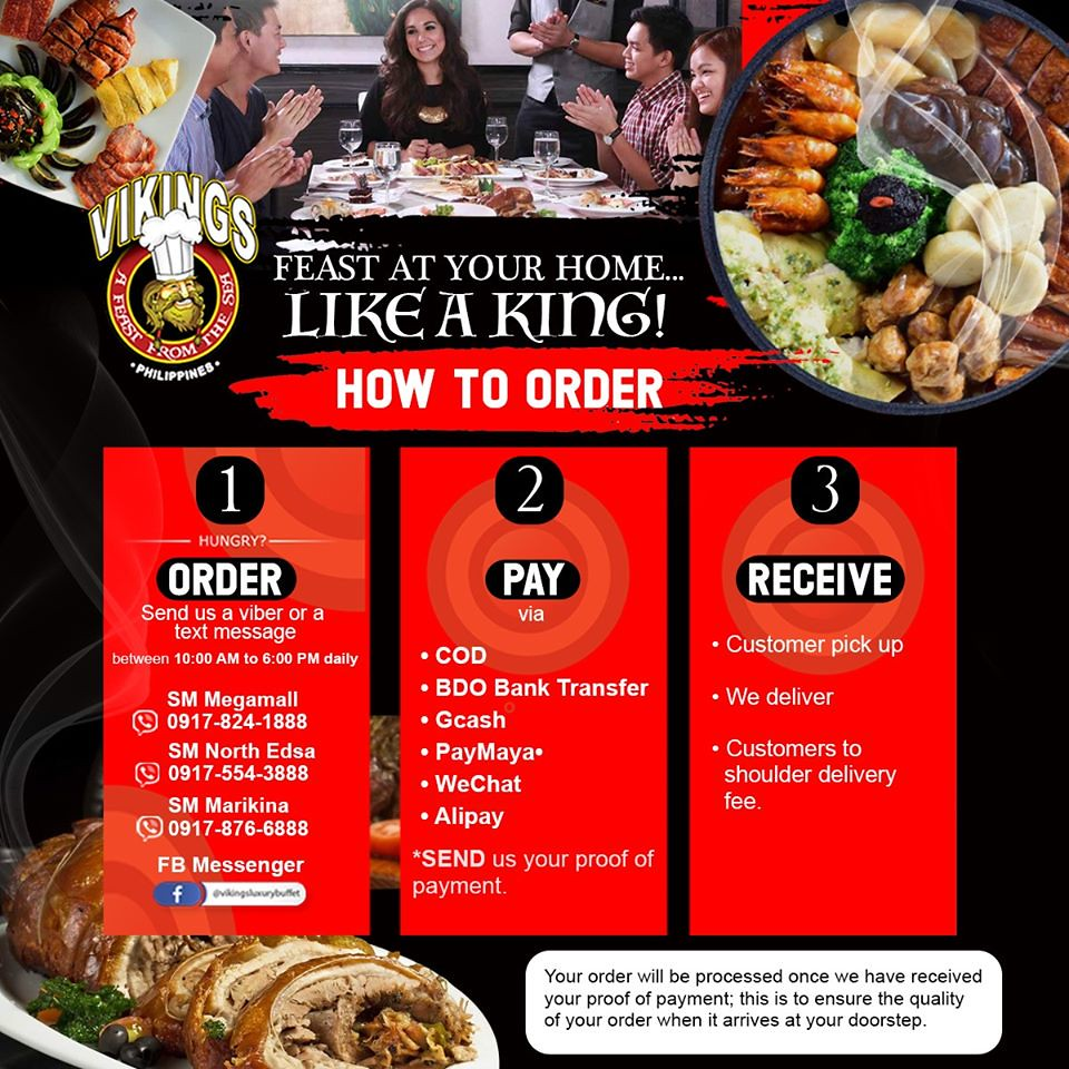 The Hungry Kat Vikings Luxury Buffet Offers Buffet Delivery At