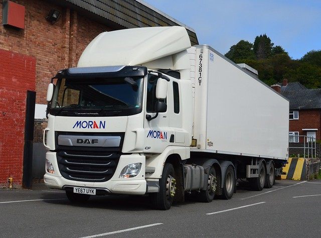 Moran Logistics YE67 UYK Delivering to Sainsbury's - Welshpool