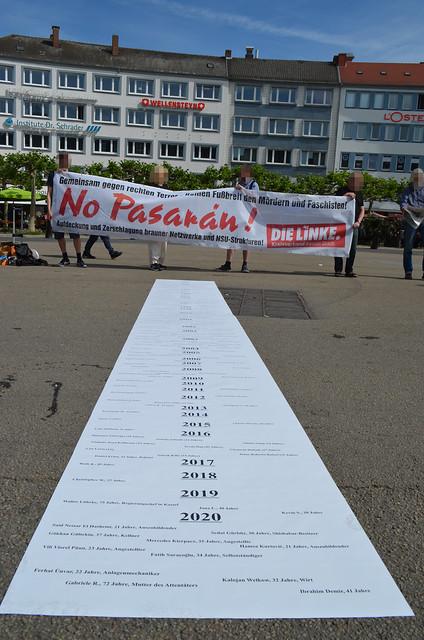 Mahnwache gegen rechte Gewalt in Kassel 02.06.20