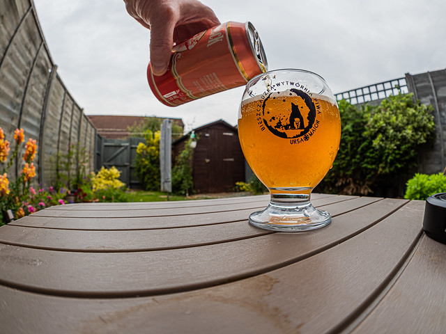 Almost Finished - Piring a Can of Lucky Jack Norwegian Grapefruit  Beer (Olympus OM-D EM1.2 & M.Zuiko 8mm Fisheye Prime) (1 of 1)