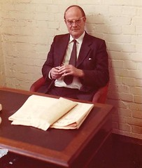 Tony at his desk at Dramrite's, taken about eight years after my Dad worked for him.