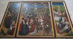 Triptyque flamand, fin XVe siècle, , chartreuse gothique Santa Maria de Miraflores, XVe siècle, Burgos, Castille-Léon, Espagne.