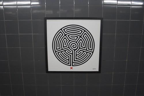 Art on the Underground Labyrinth 84 Barking closeup
