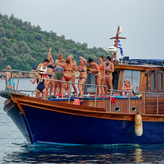 Its Party Time On That Boat ( Skiathos Harbour - Greece) Panasonic Lumix TZ200 Travel Compact