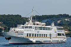 Cruise Boat Arrives in Skiathos Harbour ( Greece) Panasonic Lumix TZ200 Travel Compact