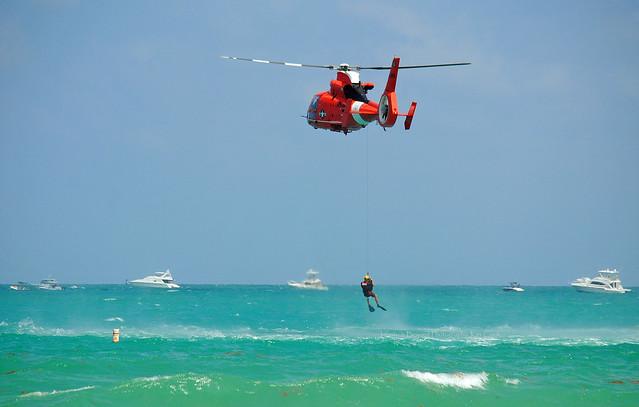 Winching Up! US Coast Guard.