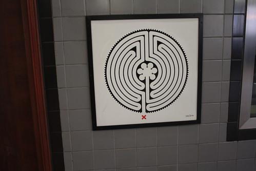 Art on the Underground Labyrinth 222 Bounds Green closeup