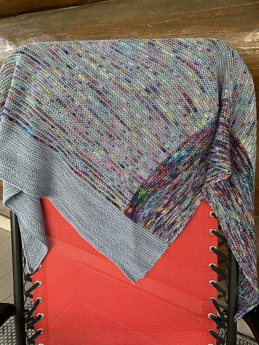 Natalie bought this kit to knit Casapinka's Breathe and Hope Shawl but she frogged it to knit Right Around the Corner by Lisa Hannes!