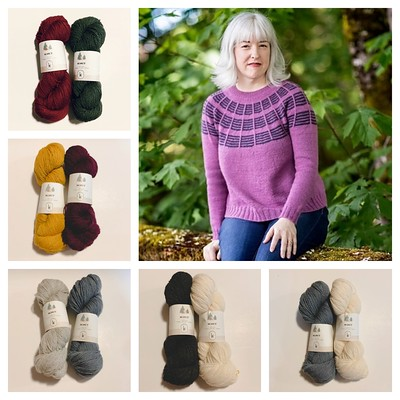 Kelbourne Woolens Scout is the suggested yarn for Olive Knits Soundtrack sweater! The KAL is running from July 1 to August 1 this year so you have 4x more days to knit this year's 4 Day KAL!