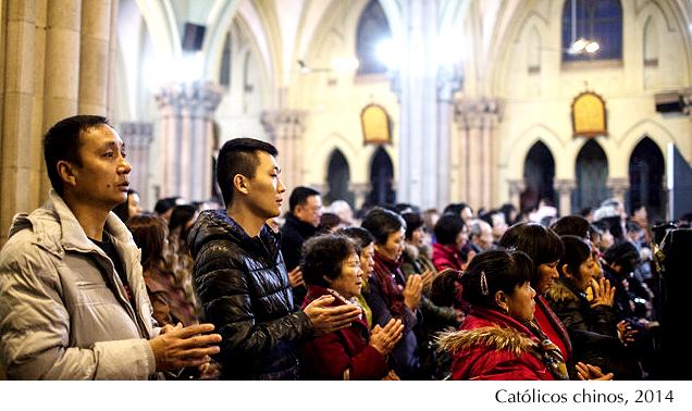 Católicos chinos, 2014
