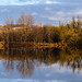Panorama of a small lake near Clifton Country Park, Clifton, Salford, Greater Manchester, North West England