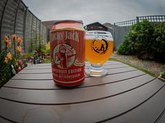 A Can of Lucky Jack Norwegian Grapefruit  Beer (Olympus OM-D EM1.2 & M.Zuiko 8mm Fisheye Prime) (1 of 1)